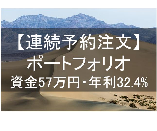 【連続予約注文】全7通貨ペアで運用開始。資金57万円で年利32.4%のポートフォリオ。
